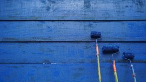 Rollers on coastal home siding